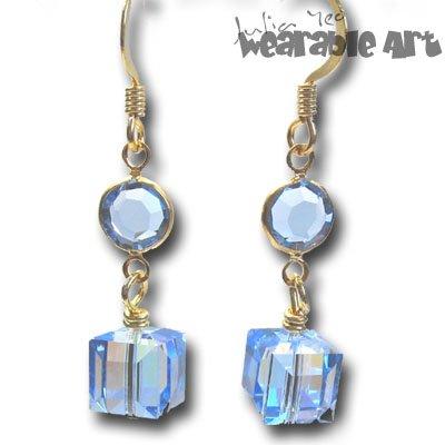 Cube Lover - Swarovski Crystal Earrings