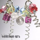 Springtime - Swarovski Crystal Leaf Earrings and Fun with Coils