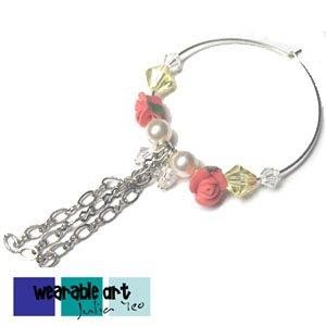 Ring-o-Roses ~ Swarovski Crystal & Pearl Earrings