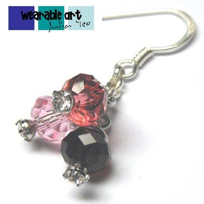 ~Fruitty Berries~ .925 Sterling Silver Swarovski Crystal Earrings