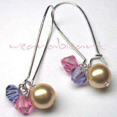 Beadalicia ~ Swarovski Crystals & Pearl Earrings