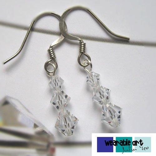 ~Innocence~ .Swarovski Crystal Earrings