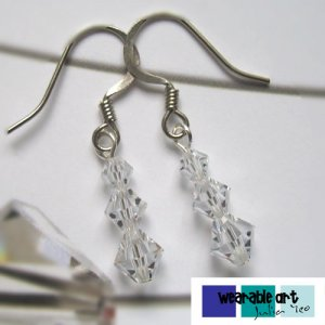 ~Innocence~ .Swarovski Crystal Earrings