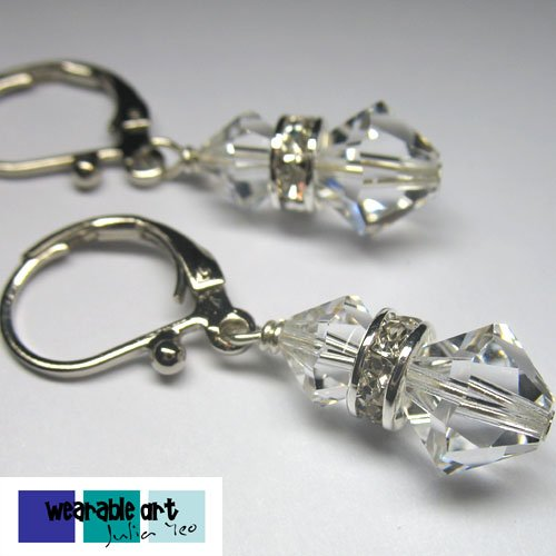 Wedding bells - Swarovski Crystal Earrings