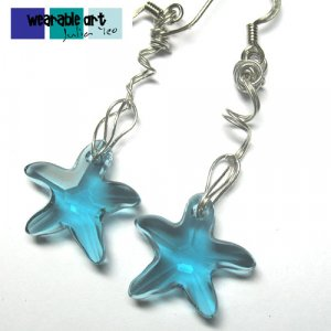 Wired Swarovski Crystal Starfish