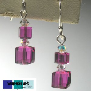 Swarovski Earrings for Wedding Brides, Bridesmaid ~ .925 Sterling Silver
