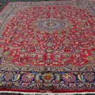 """10x13 Signed """"Shar Pesar"""" (King's Son) Genuine S Antique Persian Mashad Wool Rug"""