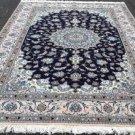 6'8 x 10 Fine KPSI 200 Genuine Persian Nain Oriental Hand Knotted Wool Area Rug