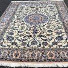 6'4x10 Fine KPSI 200 Genuine Persian Nain Silk Highlights Hand Knotted Wool Rug