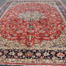 9 x 13 Superb Genuine S Antique Persian Isfahan Najafabad Hand Knotted Wool Rug