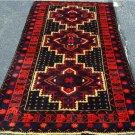3'6 x 6'3 Pakistani Balouch Turkoman Tribal Hand Knotted Oriental Wool Area Rug