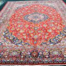 8'8 x 12'9 Fine Genuine S Antique Persian Ardekan Kashan Hand Knotted Wool Rug
