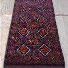 2 x 8'8 Pak Balouch Turkoman Sumak Tribal Hand Knotted Oriental Wool Runner Rug