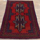 2'7 x 4'4 Pakistani Balouch Turkoman Tribal Hand Knotted Oriental Wool Area Rug