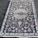 3 x 4'9 High KPSI Fine Genuine Persian Nain Hand Knotted Oriental Area Wool Rug