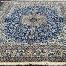 6'6 x 7'9 High KPSI Genuine Persian Nain Hand Knotted Silk Highlights & Wool Rug
