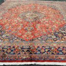8'7x12'8 Beautiful Genuine S Antique Persian Sabzevar Khorassan Hand Knotted Rug