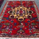4'6x6'9 Genuine S Antique Persian Tribal Hamedan Hand Knotted Oriental Wool Rug