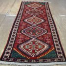 3'5 x 9'10 Fine Genuine S Antique Persian Bakhtiari Hand Knotted Wool Runner Rug