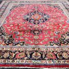 9'6x12'4 Signed KPSI 150 Genuine S Antique Persian Mashad Hand Knotted Wool Rug