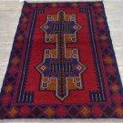 2'9 x 4'6 Pakistani Balouch Turkoman Tribal Hand Knotted Oriental Wool Area Rug