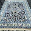 5 x 8' Fine High KPSI Silk Highlights Genuine Persian Nain Hand Knotted Wool Rug