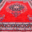 10 x 13'5 Authentic Antique Persian Sabzevar Paisley Hand Knotted Wool Area Rug