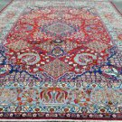 9'9 x 13'6 Palmetto Design Exquisite Authentic Persian Isfahan Hand Knotted Rug