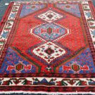 4'9x6'5 Genuine S Antique Persian Tribal Kurdish Oriental Hand Knotted Wool Rug