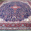 10'5 x 14'2 Stunning KPSI 200 Blue Genuine Persian Kashmar Hand Knotted Wool Rug