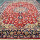 9'8x13'7 Marvelous Genuine Persian Isfahan Najafabad Hand Knotted Bird Fine Rug