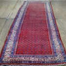 3'6x10'5 Genuine S Antique Persian Tribal Saraband Hand Knotted Wool Rug Runner