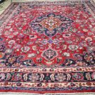 9'9 x 12'10 Signed S Antique Genuine Persian Tabriz Hand Knotted Wool Area Rug