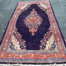 4'3 x 9 Gorgeous Genuine Semi Antique Persian Mahal Hand Knotted Wool Area Rug