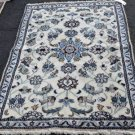 3 x 4'7 High KPSI Genuine Persian Nain Oriental Hand Knotted Area Fine Wool Rug