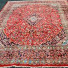 9'8 x 12'9 High KPSI Genuine S Antique Persian Mashad Hand Knotted Wool Area Rug