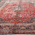 10 x 13 Fine Genuine Semi Antique Persian Mashad Khorasan Hand Knotted Wool Rug