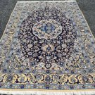 5x8 Fine High KPSI Silk Highlights & Wool Genuine Persian Nain Hand Knotted Rug