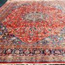 9'8x13 Stunning Authentic S Antique Persian Sabzevar Hand Knotted Wool Area Rug