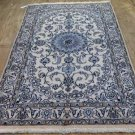 4 x 7 Fine High KPSI Authentic Persian Nain Oriental Hand Knotted Wool Area Rug