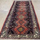 3'7 x 9'7 Genuine S Antique Persian Tribal Oriental Hand Knotted Wool Rug Runner