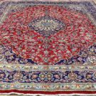 Genuine Antique Persian Kashan Plush Pile Hand Knotted Oriental Rug 9'8 x 12'5