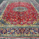 9'9 x 13 Fine Genuine S Antique Persian Isfahan Najafabad Hand Knotted Wool Rug