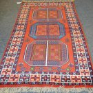 3'9 x 6'8 Authentic Persian Shiraz Tribal Oriental Hand Knotted Wool Area Rug