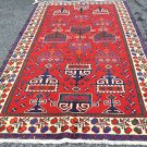 5 x 9'4 Rare Genuine Persian Bakhtiari Afshar Tribal Hand Knotted Wool Area Rug