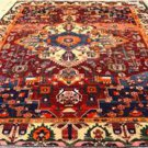 6'6 x 10'2 Genuine S Antique Persian Bakhtiari Tribal Hand Knotted Wool Area Rug