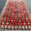 5 x 9'5 Fine Genuine S Antique Persian Tribal Shiraz Torki Hand Knotted Wool Rug