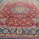 11'5 x 15'5 Rare Palace Size Signed Genuine Antique Persian Sabzevar Mashad Rug
