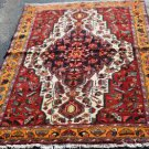 3'9x5'6 Genuine S Antique Persian Tribal Hamadan Hand Knotted Oriental Wool Rug