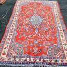 3'10 x 7'5 Genuine S Antique Persian Village Sarouk Hand Knotted Wool Area Rug